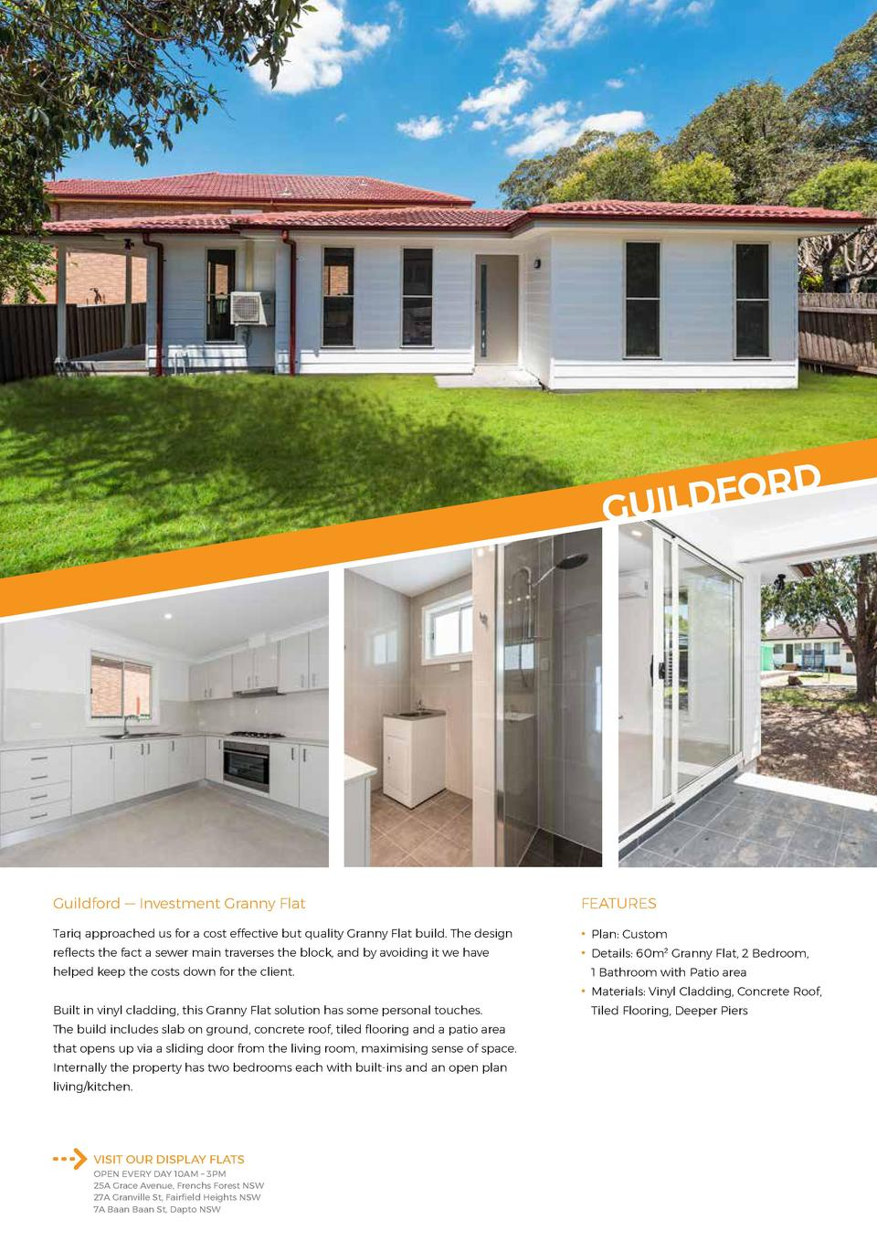 D  OR F D L I U G  Guildford     Investment Granny Flat  FEATURES  Tariq approached us for a cost effective but quality Gr...