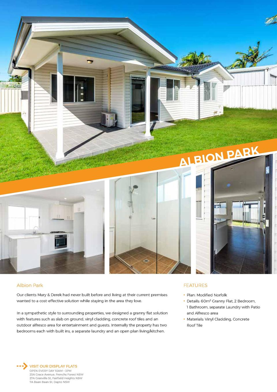 RK A P N ALBIO  Albion Park  FEATURES  Our clients Mary   Derek had never built before and living at their current premise...