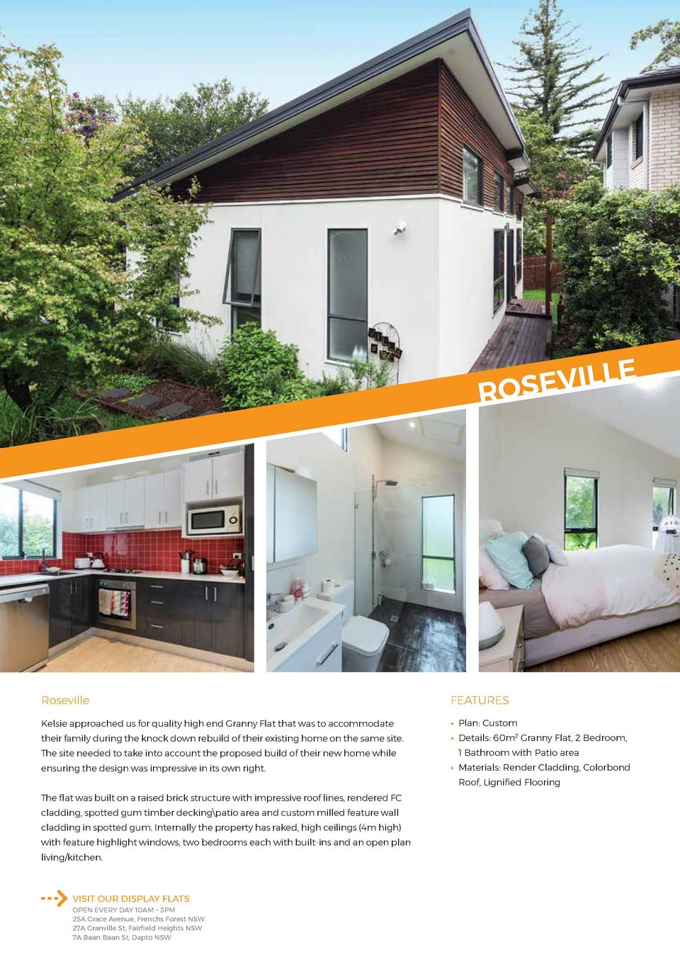 E  L L I V E S RO  Roseville  FEATURES  Kelsie approached us for quality high end Granny Flat that was to accommodate     ...