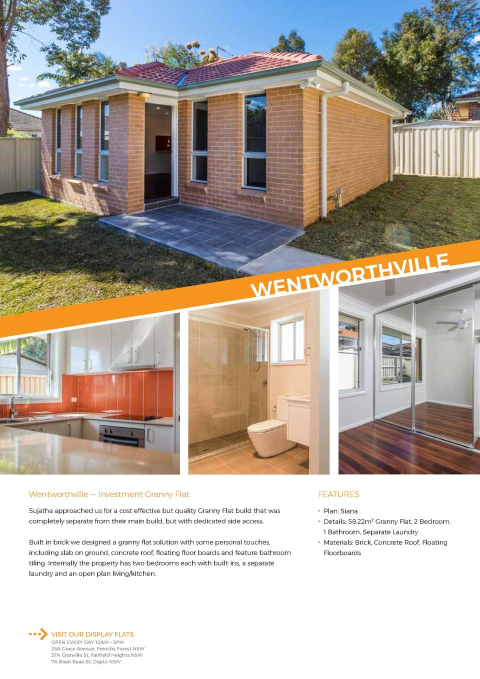 E  L L I V H T WOR  WENT  Wentworthville     Investment Granny Flat  FEATURES  Sujatha approached us for a cost effective ...